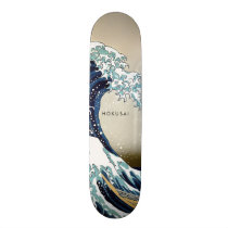 Restored Great Wave off Kanagawa Custom Text Skateboard
