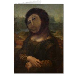 restored Mona Lisa Greeting Card