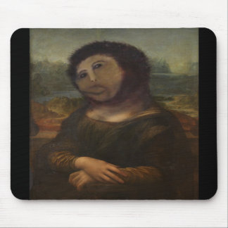 restored Mona Lisa Mouse Pads