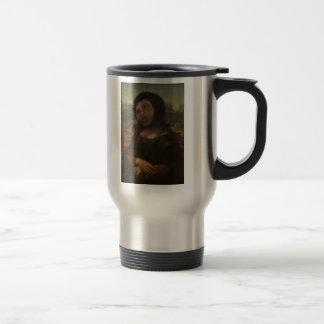 restored Mona Lisa Travel Mug