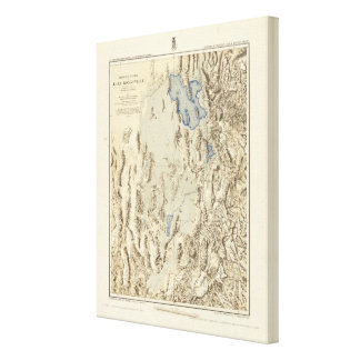 Restored Outline of Lake Bonneville Canvas Print