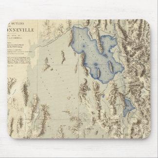 Restored Outline of Lake Bonneville Mouse Pad