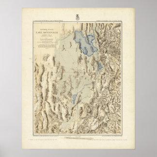 Restored Outline of Lake Bonneville Poster