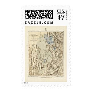 Restored Outline of Lake Bonneville Stamp