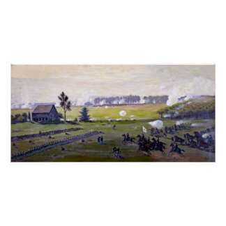 (restored) The Battle of Gettysburg painting Poster