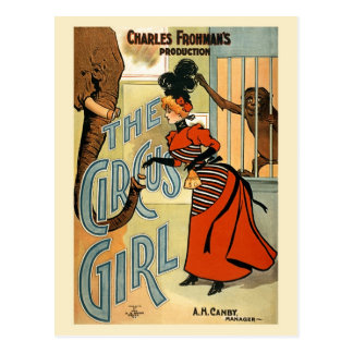 restored The Circus Girl vintage poster Postcards