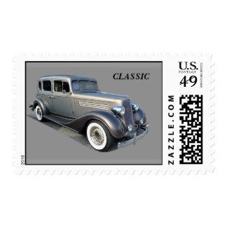 Restored Vintage Car Postage Stamp