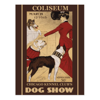Restored Vintage Chicago Kennel Club Postcard