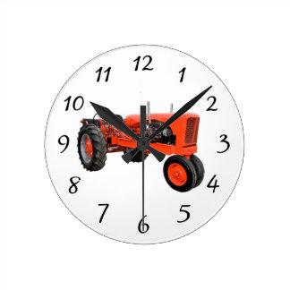 Restored Vintage Tractor Round Clock