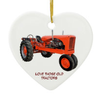 Restored Vintage Tractors Ceramic Ornament