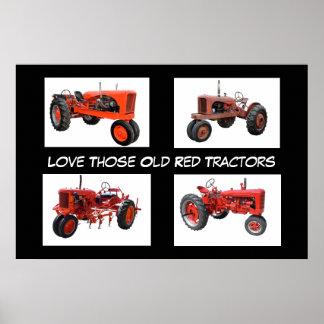 Restored Vintage Tractors Poster