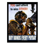 """RESTORED """"You can't afford to miss, either"""" bonds Postcard"""
