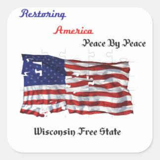 Restoring America - The Republic Square Sticker