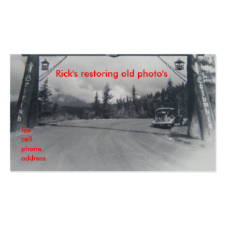 Restoring old photos Business Cards