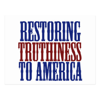 Restoring Truthiness to America Postcard