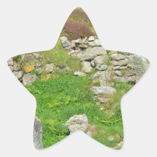 Restos antiguos en las islas de Scilly Pegatina En Forma De Estrella