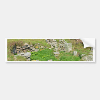 Restos antiguos en las islas de Scilly Pegatina Para Auto