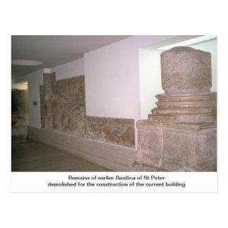 Restos de la basílica anterior postales