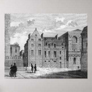 Restos de la universidad de Montaigu c 1850 Impresiones