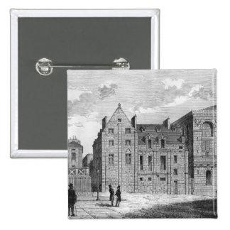 Restos de la universidad de Montaigu, c.1850 Pin Cuadrada 5 Cm