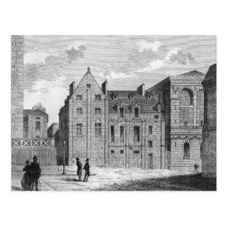 Restos de la universidad de Montaigu, c.1850 Postal