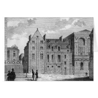 Restos de la universidad de Montaigu, c.1850 Tarjeta De Felicitación