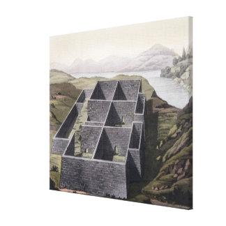 Restos de un palacio del inca en Callo, Perú, del  Impresión En Lona
