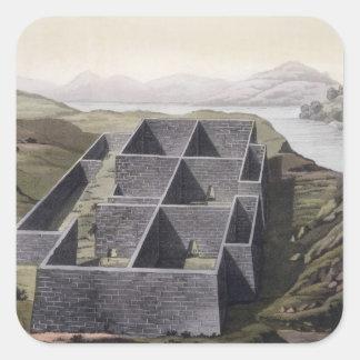 Restos de un palacio del inca en Callo, Perú, del Calcomania Cuadradas