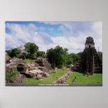 Restos mayas, Tikal, Guatemala Posters