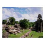 Restos mayas, Tikal, Guatemala Tarjeta Postal
