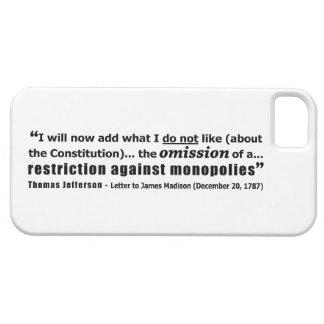 Restricción contra los monopolios Thomas Jefferson iPhone 5 Case-Mate Funda