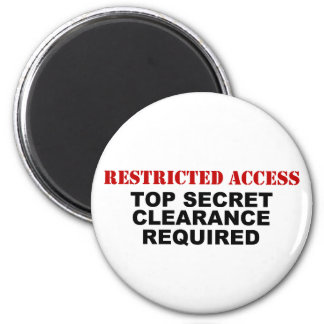 Restricted Access 2 Inch Round Magnet