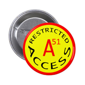 RESTRICTED ACCESS   PINBACK BUTTONS