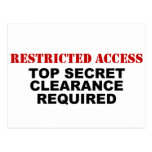 Restricted Access Postcard