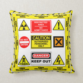 Restricted Area 1 Pillow