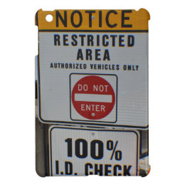 restricted area iPad mini case