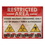 Restricted Area Warning Sign Print