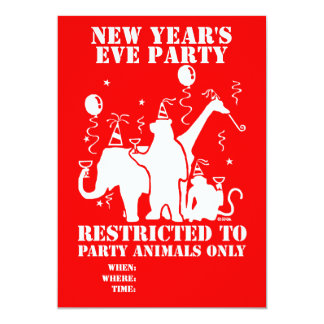 Restricted to party animals only card