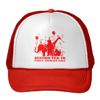 Restricted to party animals only trucker hat