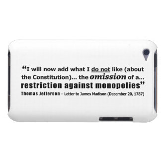 Restriction Against Monopolies Thomas Jefferson Barely There iPod Cover