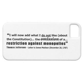 Restriction Against Monopolies Thomas Jefferson iPhone 5 Covers