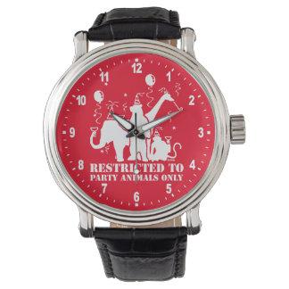 Restringido a los juerguistas solamente relojes de pulsera