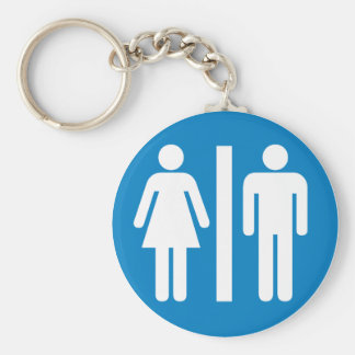 Restroom Facilities Highway Sign Keychain