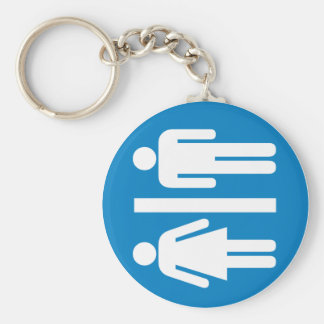 Restroom Facilities Highway Sign Key Chains