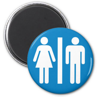 Restroom Facilities Highway Sign 2 Inch Round Magnet