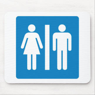 Restroom Facilities Highway Sign Mouse Pad