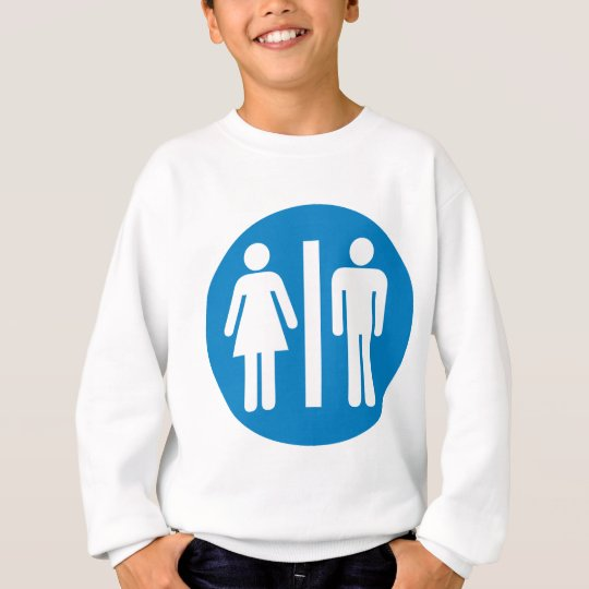 Restroom Facilities Highway Sign Sweatshirt