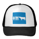 Restroom Facilities Humorous Highway Sign - COWS? Hat
