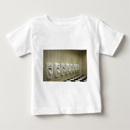 restroom interior with urinal row baby T-Shirt