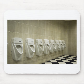 restroom interior with urinal row mouse pad